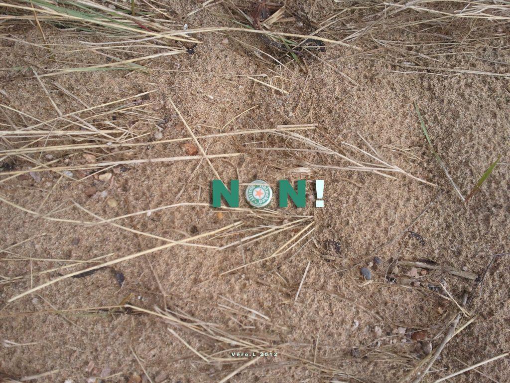 NON ! La terre n'est pas une poubelle ...